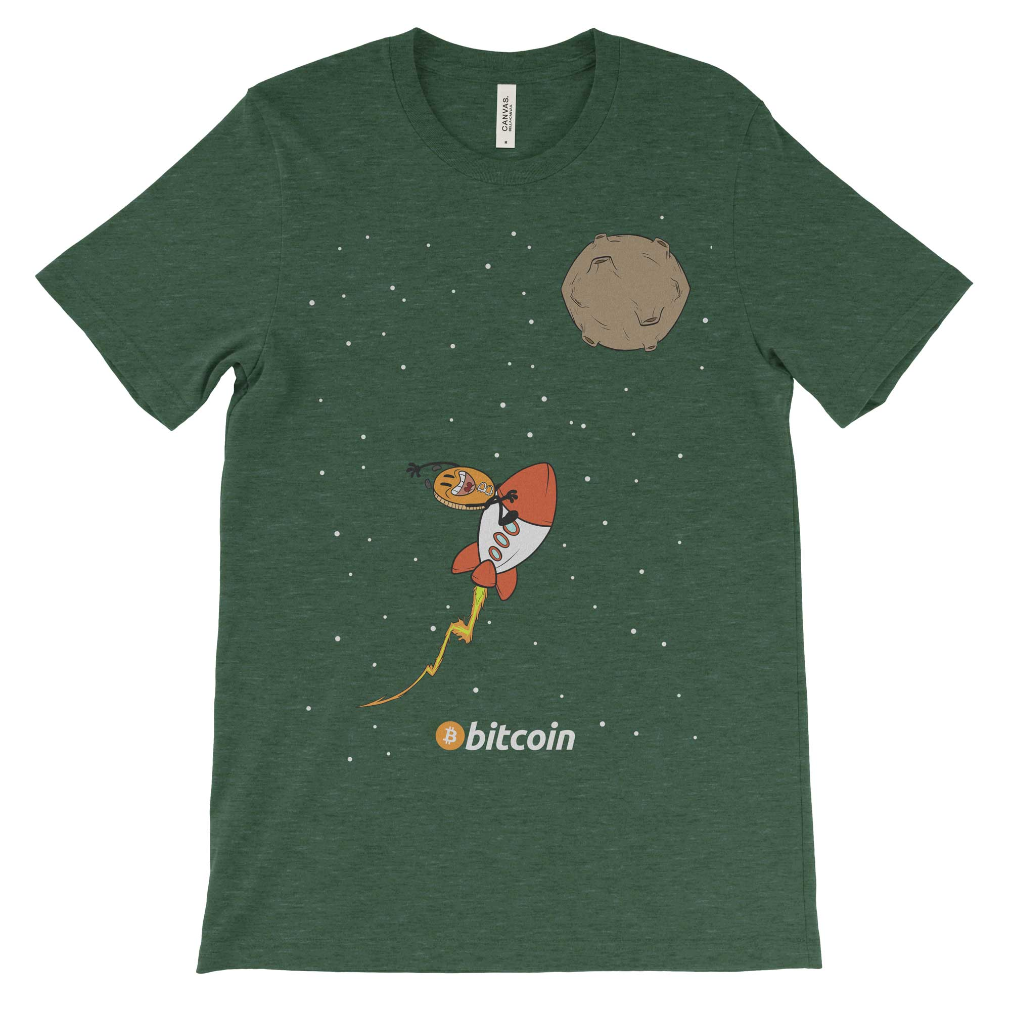 Rockets To The Moon: Bitcoin Rocket To The Moon Cryptocurrency T-Shirt
