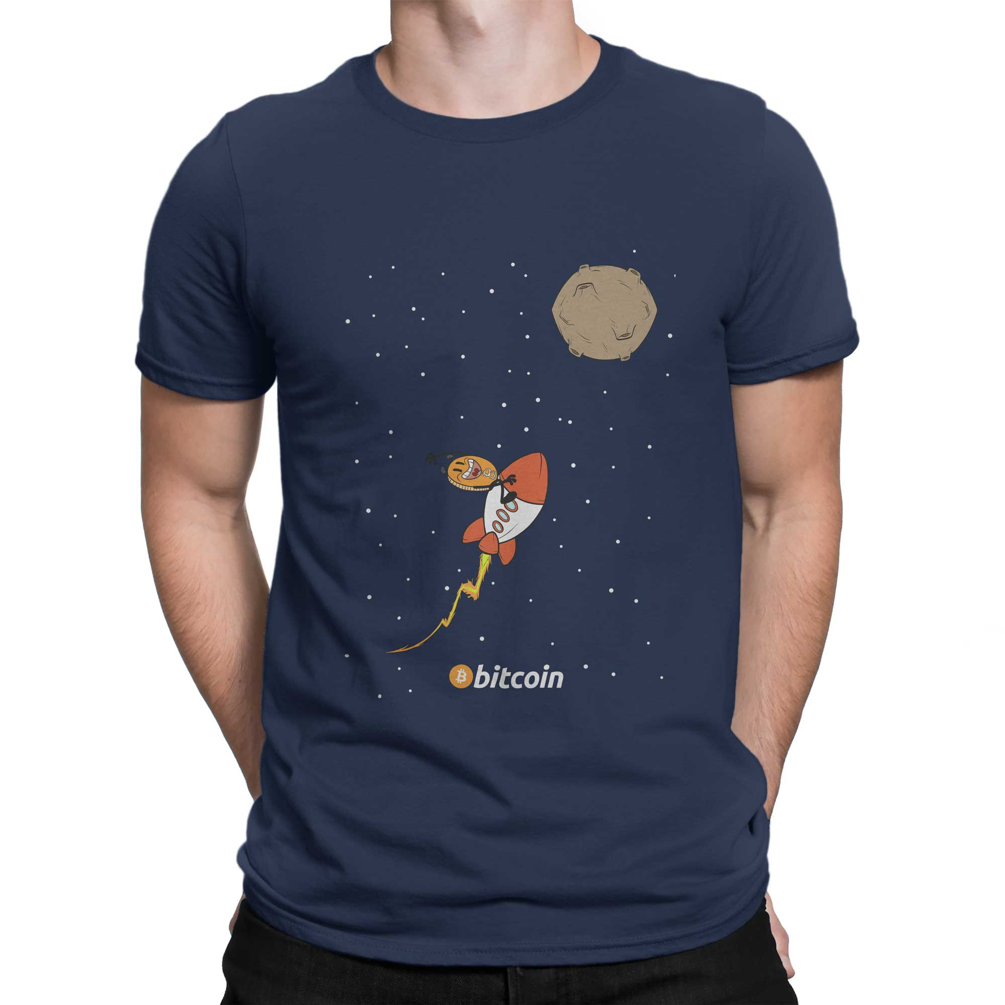 To The Moon Bitcoin Shirts