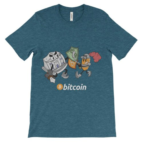 Bitcoin Knight vs Bank Decentralize T-Shirt Colorful ...